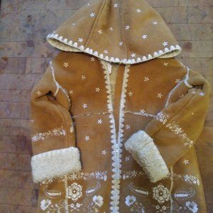 BABY GAP COAT TODDLER SZ 2 FAUX SUEDE AND SHERPA